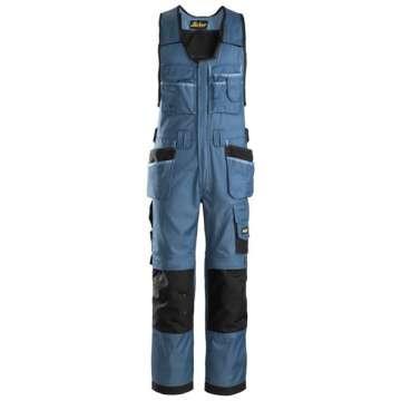 Blå Håndverkshelbukse DuraTwill - Snickers Workwear 0212