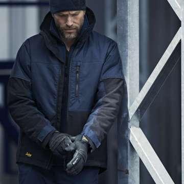 Marineblå vinterjakke herre - Snickers Workwear 1148