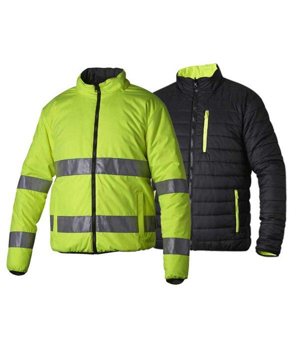 Vendbar jakke i gul