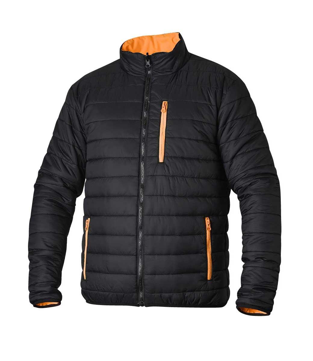 Vendbar jakke i oransje ~ GJØR DEG SYNLIG også for