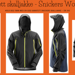 Vanntett skalljakke - Snickers Workwear 1300