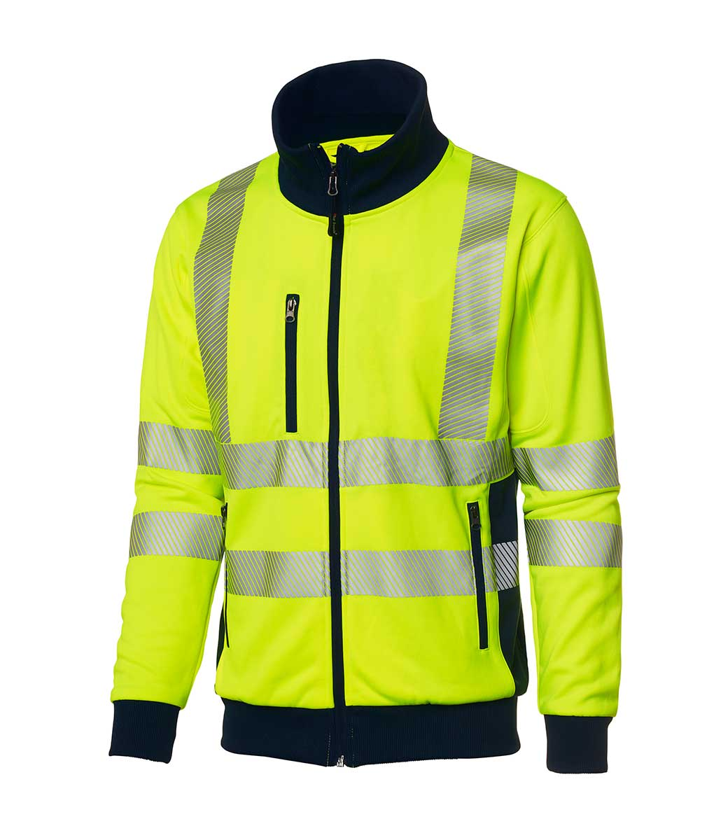 4395bc60 Gul jakke med 3M refleksbånd ~ Ezzenza.no Arbeidsklær