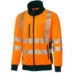 Oransje jakke med 3M refleksbånd