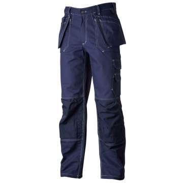 Marineblå håndverksbukse - 100% bomull