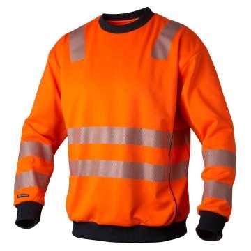 Svart college genser ~ OEKO TEX ®. 65% Bomull og 35% polyester.