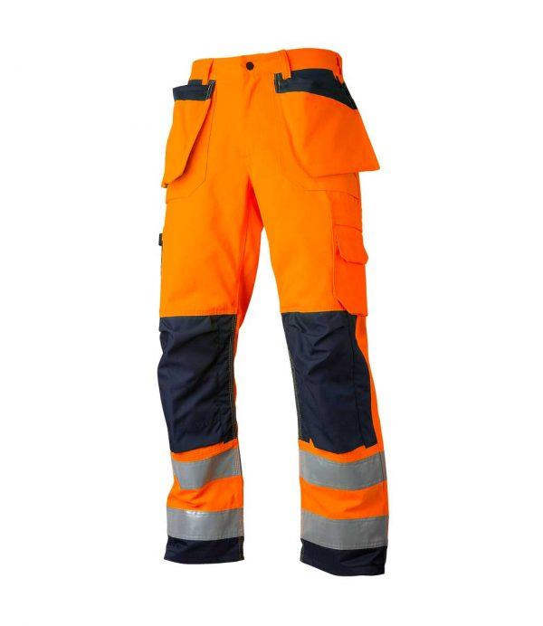 Oransje arbeidsbukse Cordura® forsterket