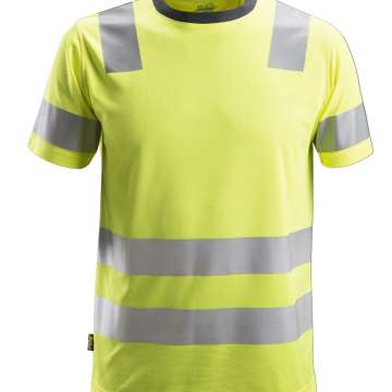 Gul High-Vis T-skjorte - Snickers Workwear 2530
