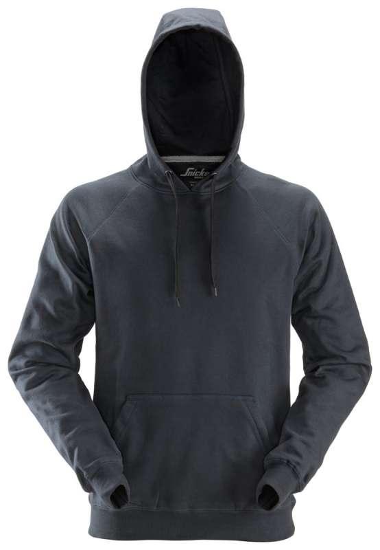 Stålgrå hettegenser fra Snickers Workwear 2800