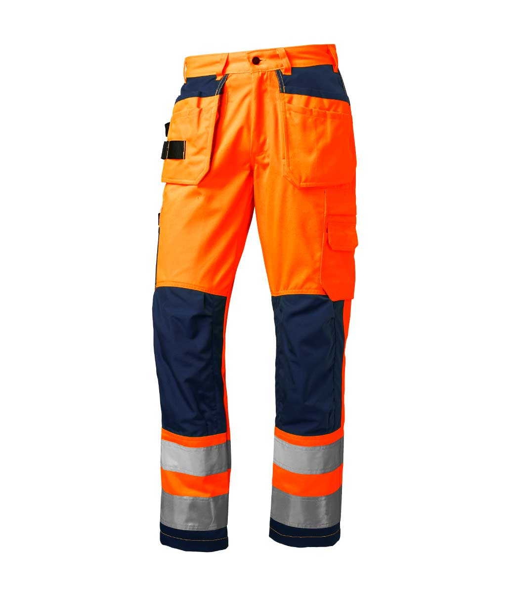 Oransje arbeidsbukse med Cordura® ~ Ezzenza.no Arbeidsklær