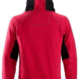 Rød hettegenser 2815 med Snickers logo