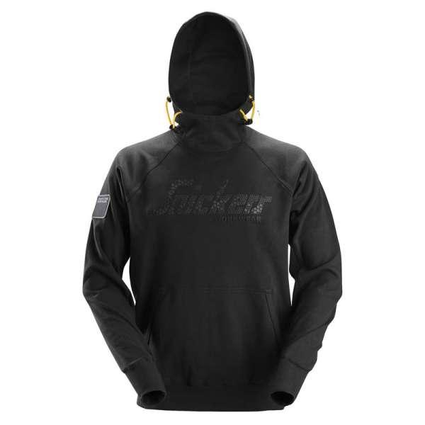 Svart hettegenser logo - Snickers Workwear 2881