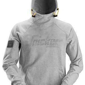 Gråmelert hettegenser logo - Snickers Workwear 2881