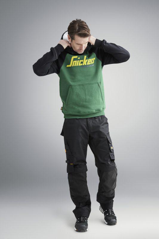 Snickers arbeidsklær Trendy logo hettegenser herre
