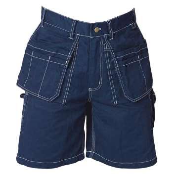 Marineblå shorts i 100% bomull