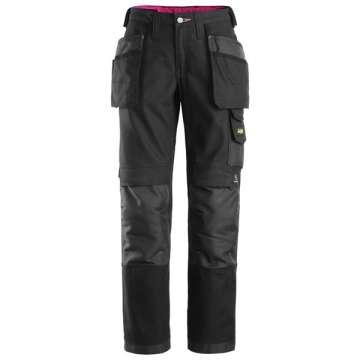 Svart Arbeidsbukse dame - Snickers Workwear 3714