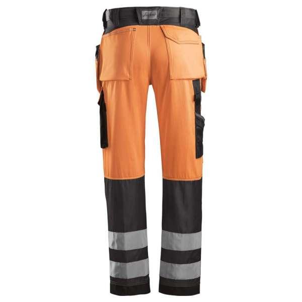 Oransje varselbukse - Snickers Workwear 3233