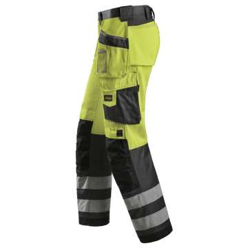 Gul varselbukse - Snickers Workwear 3233