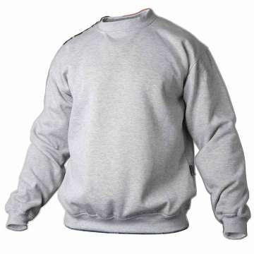Lysegrå college genser