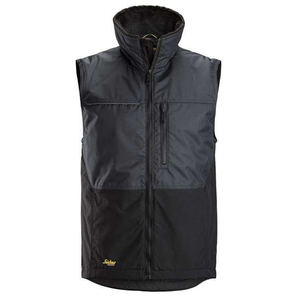 Stålgrå Vintervest herre - Snickers Workwear 4548