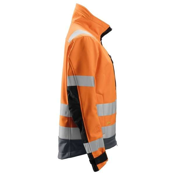 Oransje softshell jakke dame - Snickers Workwear 1237