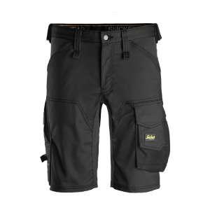 Svart stretch shorts fra Snickers Workwear - Allroundwork serien