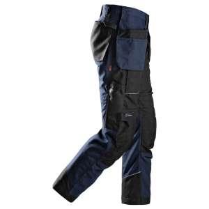 Marineblå arbeidsbukse RuffWork med hylsterlommer 6202 fra Snickers Workwear