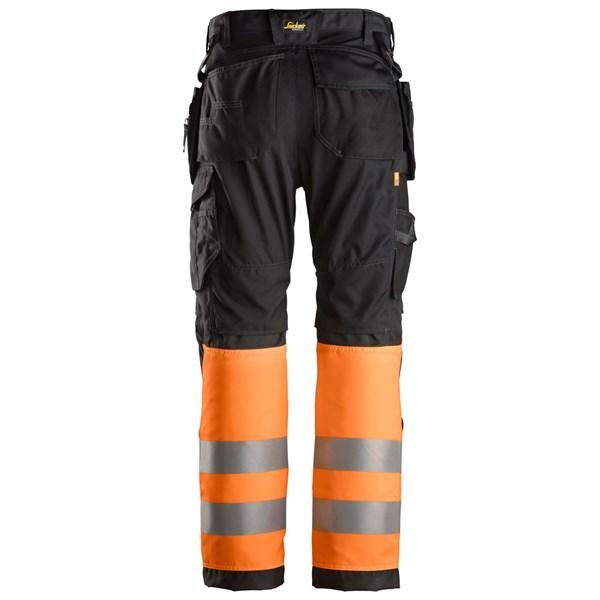 High Vis Bukse med hylsterlommer Klasse 2,Orange Snickers