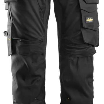 Svart stretch bukse fra Snickers Workwear