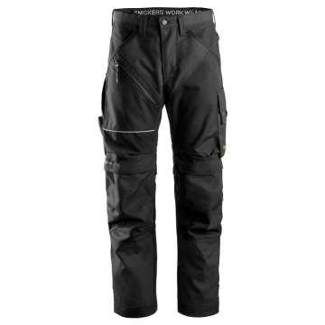 6303_0404 Svart Arbeidsbukse RuffWork Snickers Workwear