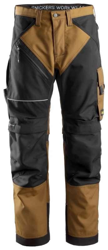 Brun Arbeidsbukse RuffWork - Snickers Workwear 6303