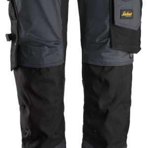 Stålgrå stretch arbeidsbukse - Snickers Workwear 6341