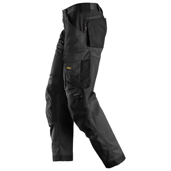 Svart stretchbukse Snickers Workwear 6351