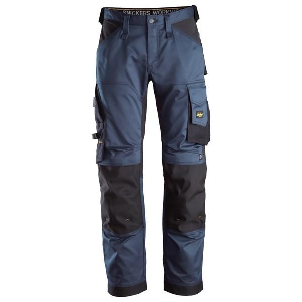 Marineblå stretch bukse Snickers Workwear 6351