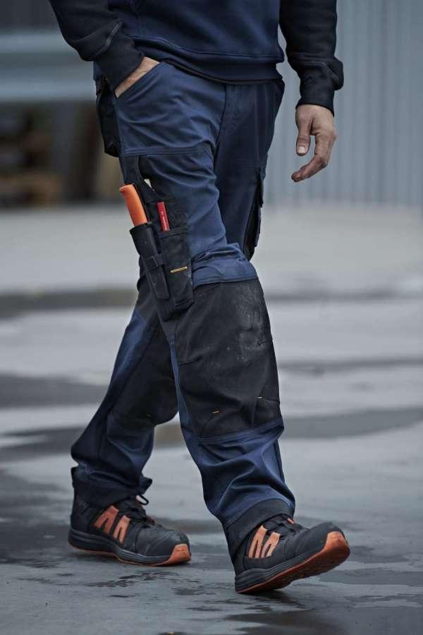 Blå stretch bukse - Snickers Workwear 6351