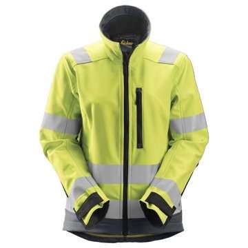 Gul Softshell jakke dame - Snickers Workwear 1237