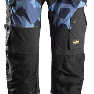 Arbeidsbukse Camo marineblå - med hylsterlommer 6902