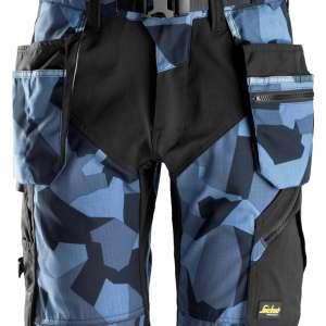 Marineblå Camo shorts med hylsterlommer 6904