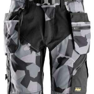 Grå Camo shorts med hylsterlommer 6904