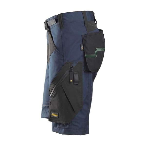 Marineblå FlexiWork stretch shorts - utmerket bevegelsesfrihet -fra Snickers workwear