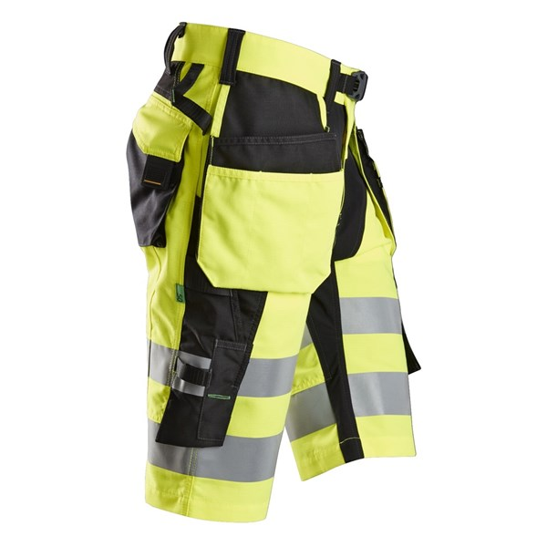 Snickers shorts: Gul High Vis shorts med hylsterlommer for herre