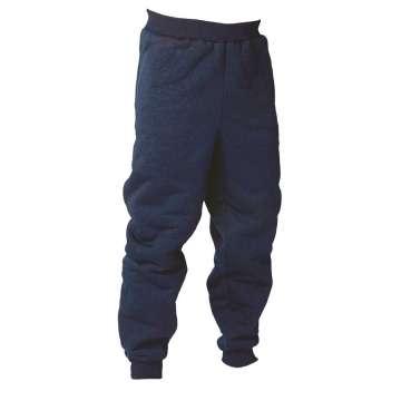 Marineblå fiberpelsbukse -100% polyester
