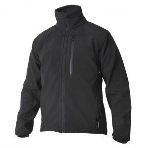 Svart softshell jakke - 3 lags materiale