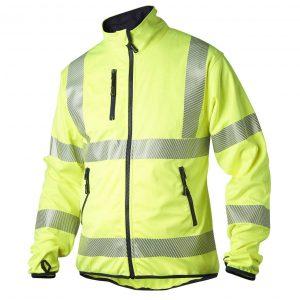 Gul softshell jakke med 3M
