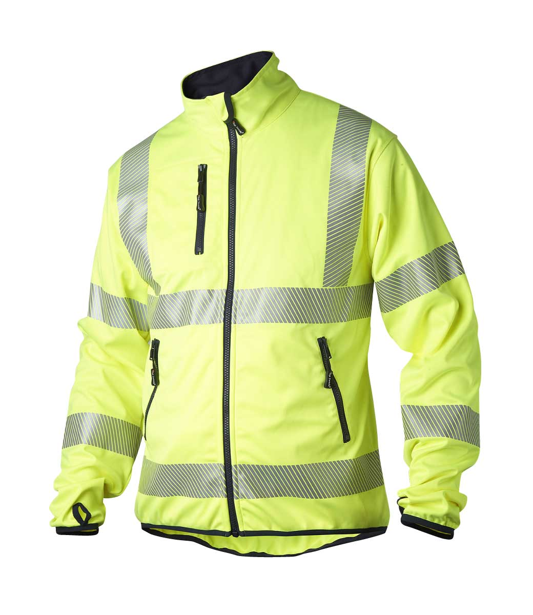 Gul jakke med 3M refleksbånd ~ Ezzenza.no Arbeidsklær