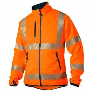 Softshell jakke med 3M refleks