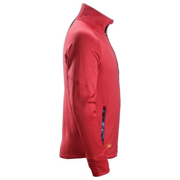 Rød Stretch fleecejakke - Snickers Workwear 8001