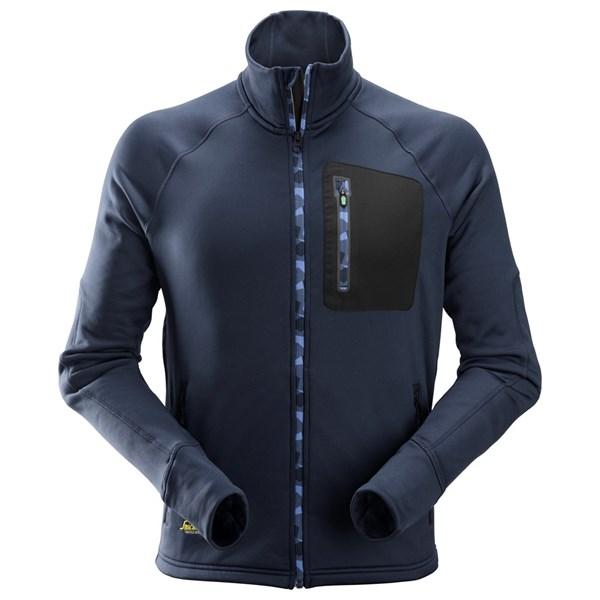 Marineblå Stretch fleecejakke - Snickers Workwear 8001