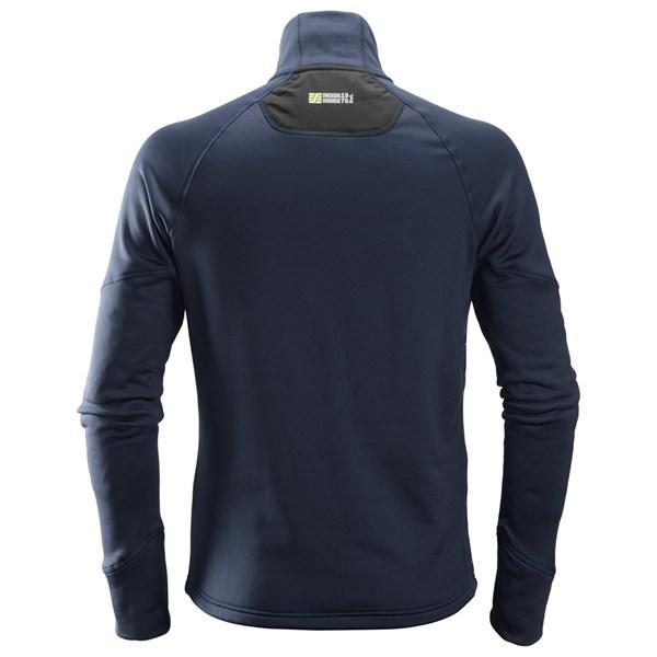 Svart Stretch fleecejakke - Snickers Workwear 8001