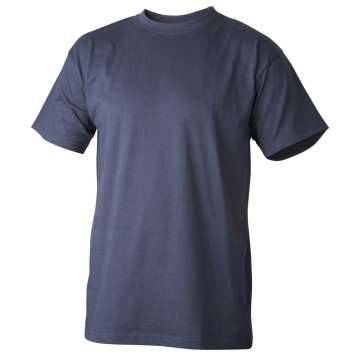 Marineblå t-skjorte - 100% bomull