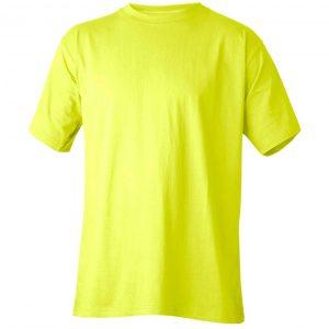 Gul t-skjorte - 100% bomull